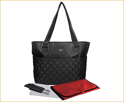 Bellotte Diaper Bag - Matching Baby Changing Pad - Classic Satchel Tote