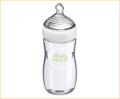 NUK Simply Natural Bottle, 9 Ounce