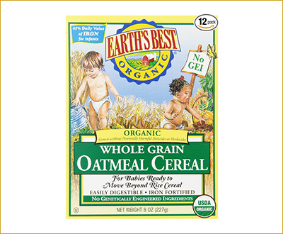 Earth's Best Organic, Whole Grain Oatmeal Cereal