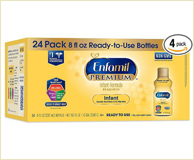 Enfamil Ready-to-Use Baby Formula (Pack of 4)