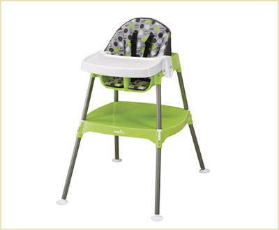 Evenflo Dottie Lime Convertible High Chair