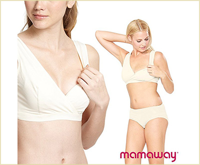Mamaway Far Infrared Crossover Sleeping Nursing Bra for Increasing Milk Supply