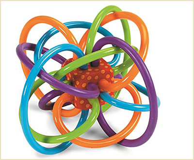 Manhattan Toy Winkel Rattle & Sensory Teether Activity Toy