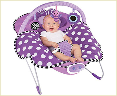 Sassy Cuddle Bug Violet Butterfly Baby Bouncer