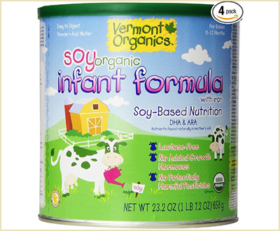 Vermont Organics Soy-Based Organic Infant Formula with Iron (pack of 4)