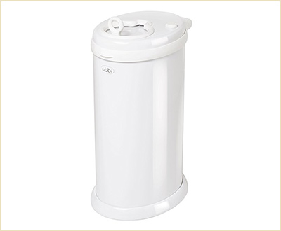 Steel Diaper Pail in White by Ubbi