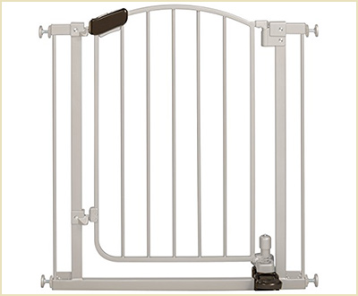 The Step-to-Open Gate in Silver by Summer Infant