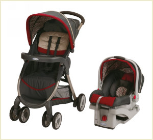 fastaction stroller car seat combo