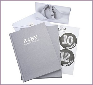 Unisex Linen Wrapped Baby Memory Book