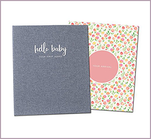 best peachly minimalist baby memory book