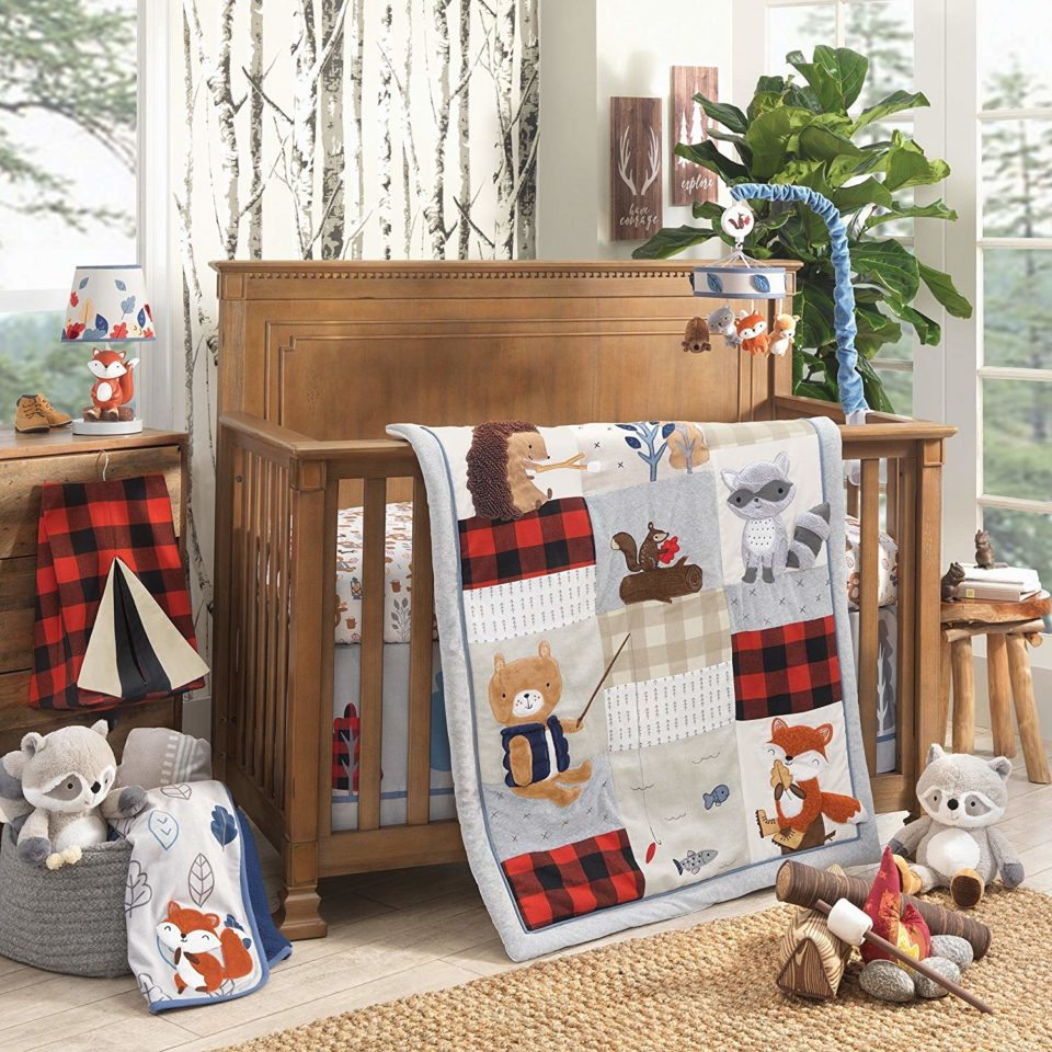Little Campers 4 Piece Crib Bedding Set