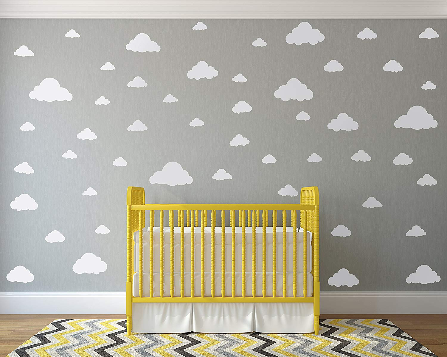 White Clouds Sky Wall Decals